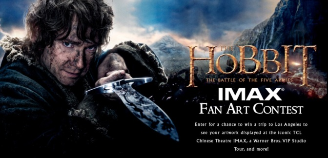 "Enter in ""The Hobbit: The Battle of the Five Armies"" IMAX Fan Art Contest!"