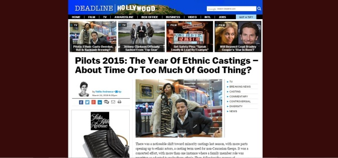 "A Response to Deadline's Nellie Andreeva's Offensive ""Ethnic Castings"" Post"