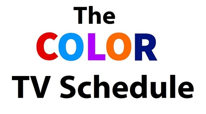 The COLOR Fall TV Schedule!