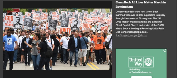 "Glenn Beck Leads Huge Crowds in ""Never Again is Now"" March in Birmingham, AL"